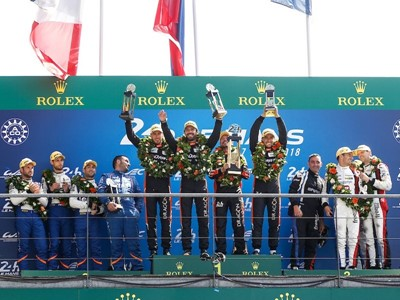 All-Dunlop Le Mans Podium
