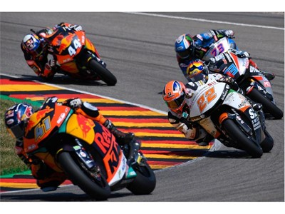 Brad Binder secured his first Moto2 win