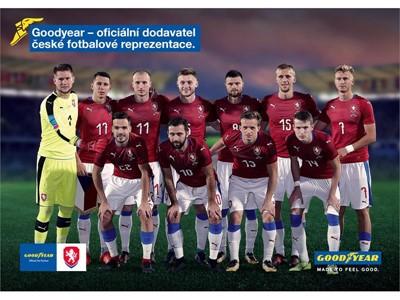 GOODYEAR NOVÝM OFICIÁLNÍM DODAVATELEM  ČESKÉ FOTBALOVÉ REPREZENTACE
