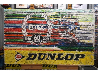 Dunlop auctions BTCC original commemorative artwork to raise funds for Macmillan Cancer Support