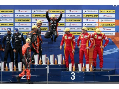 G-Drive Racing celebrate