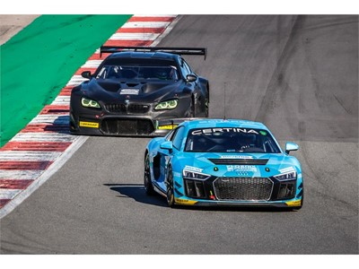GT4 and GT3 cars featured in the Dunlop VLN tyre test at Portimao