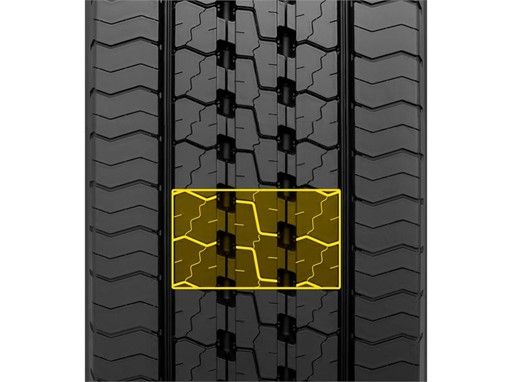 Dunlop SP 346 High Density Zig Zag Sipes Wet Grip High Mileage