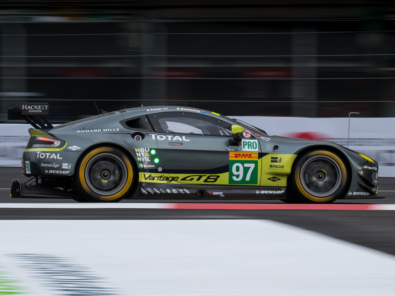 Aston Martin Racing took its first GTE-Pro win on Dunlop n the inaugural Six Hours of Mexico