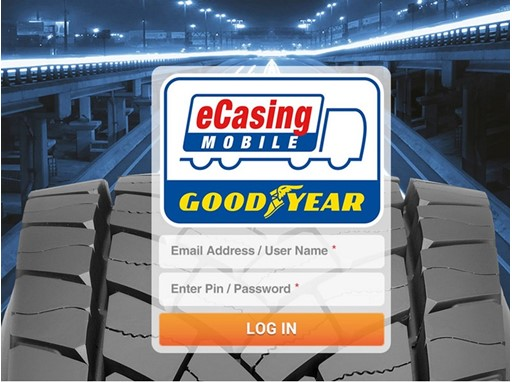 Goodyear eCasing Mobile App Login iPad