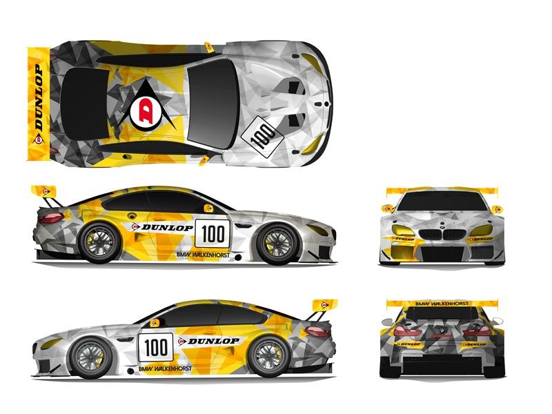 Latest Dunlop BMW M6 GT3 Art Car - Chosen by <b>motorsport</b> fans