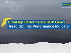 UltraGrip Performance SUV Gen-1 - Tread Optimal Performance Indicator