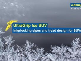 Goodyear UltraGrip Ice SUV. Video Animation: Interlocking Sipes
