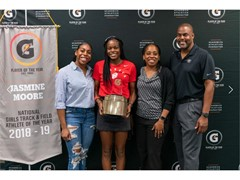 JASMINE MOORE NAMED 2018-19 GATORADE® NATIONAL GIRLS TRACK AND FIELD PLAYER OF THE YEAR Gatorade Presents Winner with Honor in Front of Family, Friends and Teammates