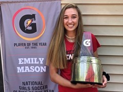EMILY MASON NAMED 2019-20 GATORADE® NATIONAL GIRLS SOCCER PLAYER OF THE YEAR