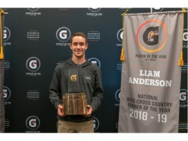2018-19 Gatorade National Boys Cross Country Runner of the Year Award Winner Liam Anderson