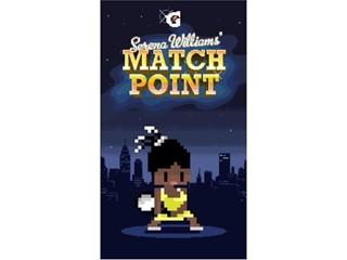 Gatorade Celebrates Serena Williams with 8-Bit Game