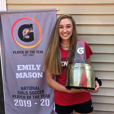 2019-20 Gatorade National Girls Soccer Player of the Year Award Winner Emily Mason