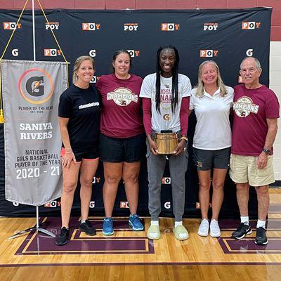 2020-21 Gatorade National Girls Basketball Player of the Year Award Winner Saniya Rivers