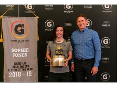 2018-19 Gatorade National Girls Soccer Player of the Year Award Winner Sophie Jones