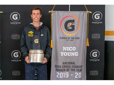 NICO YOUNG NAMED 2019-20 GATORADE® NATIONAL BOYS CROSS COUNTRY RUNNER OF THE YEAR