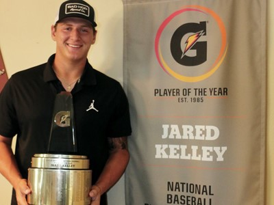 JARED KELLEY NAMED 2019-20 GATORADE® NATIONAL BASEBALL PLAYER OF THE YEAR