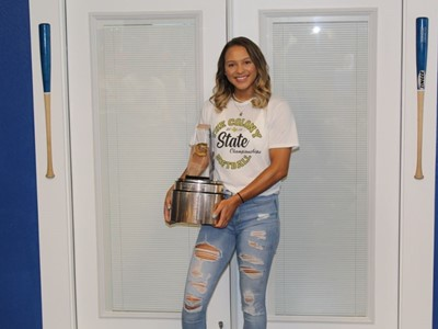 2019-20 Gatorade National Softball Player of the Year Award Winner Jayda Coleman.