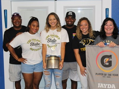 JAYDA COLEMAN NAMED 2019-20 GATORADE® NATIONAL SOFTBALL PLAYER OF THE YEAR