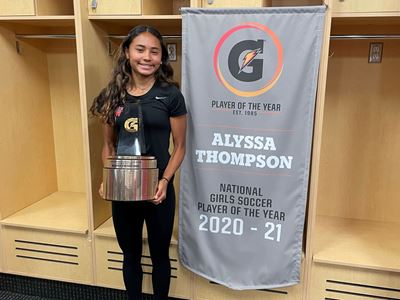 Alyssa Thompson and Bryce Boneau Named 2020-21 Gatorade® National Soccer Players of the Year
