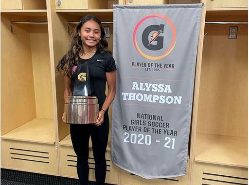 2020-21 Gatorade National Girls Soccer Player of the Year Award Winner Alyssa Thompson