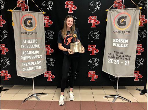 2020-21 Gatorade National Girls Track & Field Player of the Year Winner Roisin Willis