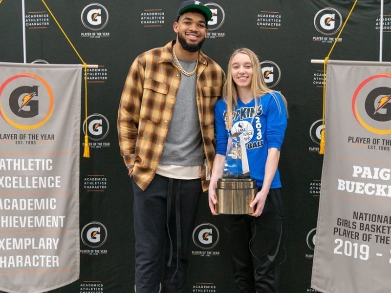 2019-20 Gatorade National Girls Basketball Player of the Year Award Winner Paige Bueckers