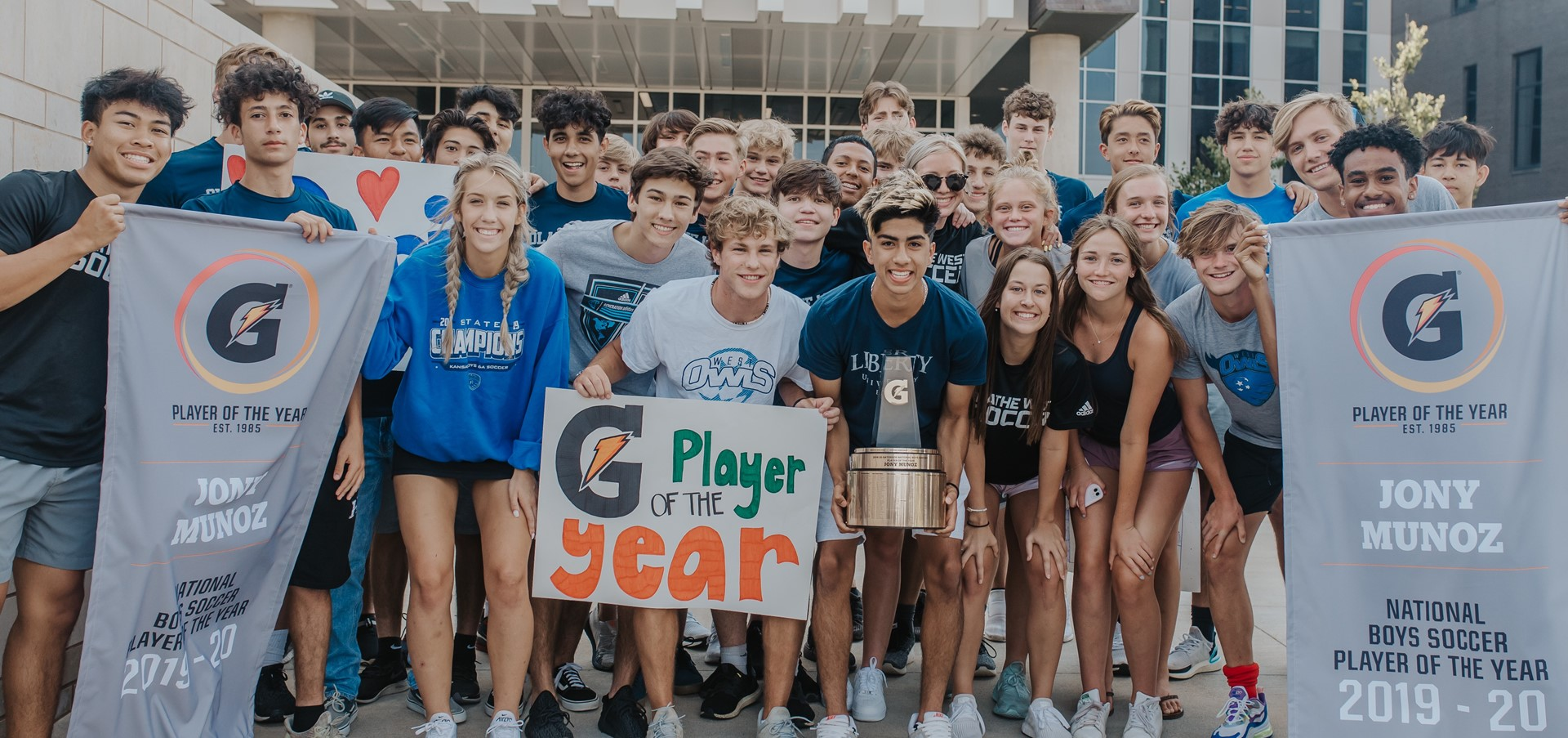 JONY MUNOZ NAMED 2019-20 GATORADE® NATIONAL BOYS SOCCER...