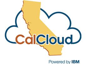 CalCloud powered by IBM logo
