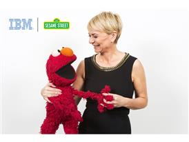 IBM's Harriet Green and Sesame Street's Elmo