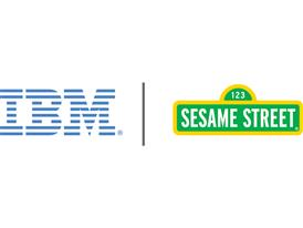 IBM and Sesame Street Logo Lock up