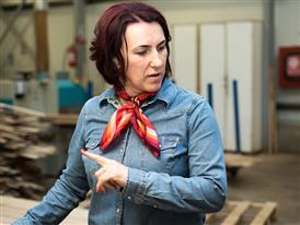 Nemes Cristina Haymi, head of the top layer factory in Aviva