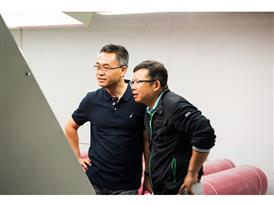 Eric Peng, business developer at IKEA, and Frank Chen, part owner of Hilong