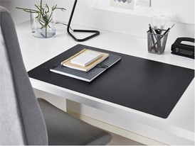 SKRUTT desk protector is made of collected packaging material.