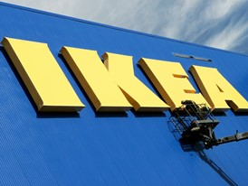 IKEA wordmark installation