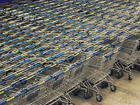 IKEA shopping trolleys