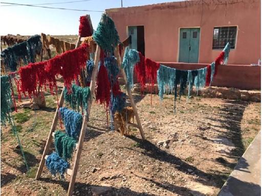 Colourful yarn