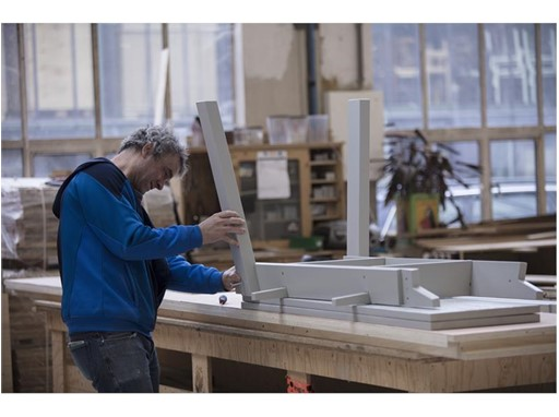 Piet Hein Eek working on INDUSTRIELL