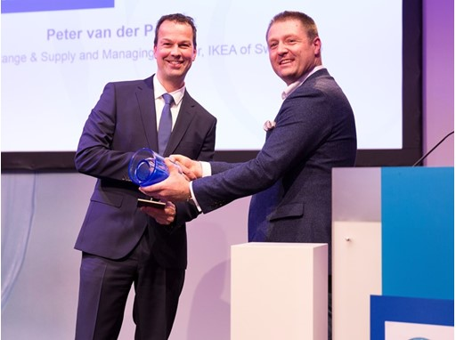 Peter van der Poel,accepts the award on behalf of IKEA brand