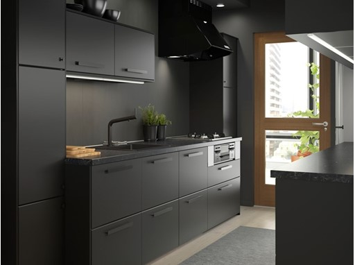 KUNGSBACKA, the first kitchen fronts in the IKEA range made from both recycled wood and recycled plastic.