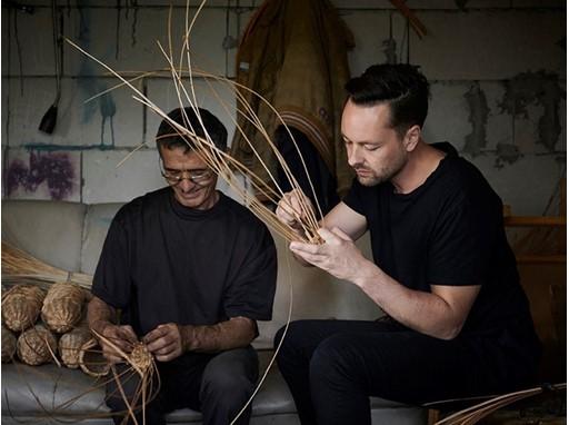 IKEA designer Mikael Axelsson and artisan Zoli Bojodi