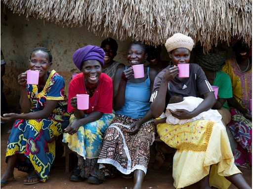 Women enjoying a cup of coffee