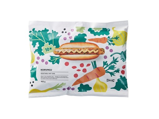 KORVMOJ veggie hot dog packaging