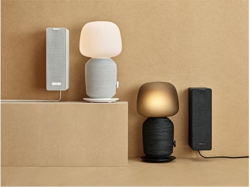 SYMFONISK range, table lamp speaker and book-shelf speaker