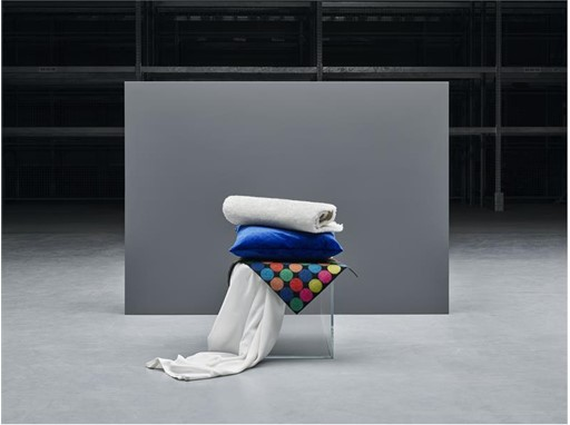 IKEA products made out of recycled polyester