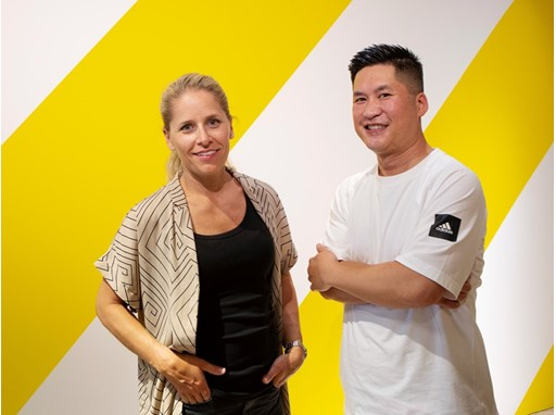 Sarah Fager, IKEA designer and Michael Bui, Senior Design Director adidas