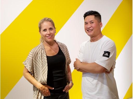 Sarah Fager, IKEA designer and Michael Bui, Senior Design Director adidas