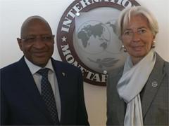 IMF Mali Lagarde Meets Maiga