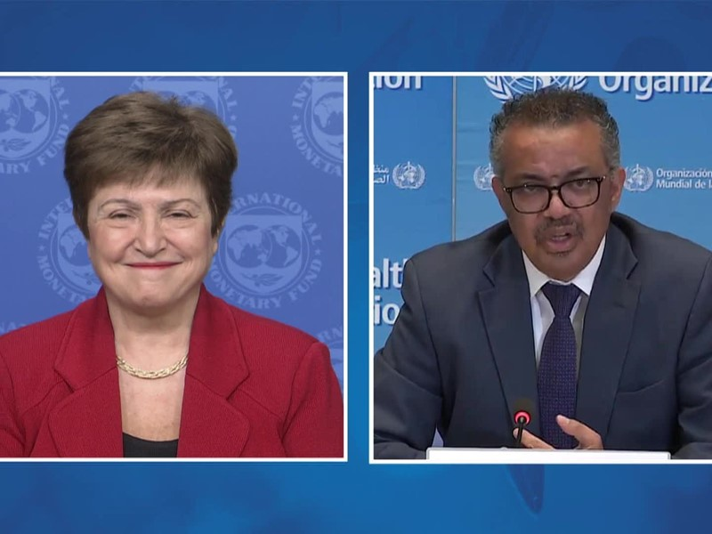IMF Media Center : Joint Press Briefing WHO/IMF with MD Georgieva