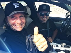 Racing Legend Emerson Fittipaldi Gets First Drifting Experience in All-New 2018 Kia Stinger GT at SEMA Show